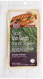 gouda cheese sliced, van gogh natural smoked Roth Nutrition info