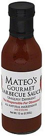 gourmet barbecue sauce medium Mateos Nutrition info
