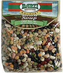 gourmet bean soup mix old no. 16 Barzi Nutrition info