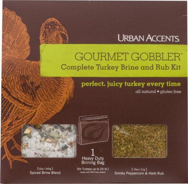 gourmet gobbler turkey brine and rub kit complete Urban Accents Nutrition info