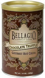 gourmet hot cocoa chocolate truffle Bellagio Nutrition info