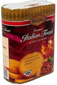 gourmet italian toast wheat crackers Bellino Nutrition info