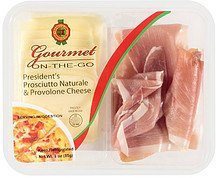 gourmet on-the-go president's prosciutto naturale & provolone cheese Daniele Nutrition info