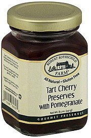 gourmet preserves tart cherry, with pomegranate Robert Rothschild Farm Nutrition info