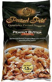 gourmet pretzel nuggets peanut butter filled Pretzel Pete Nutrition info