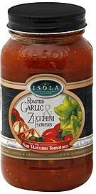 gourmet sauce roasted garlic & zucchini flowers Isola Nutrition info