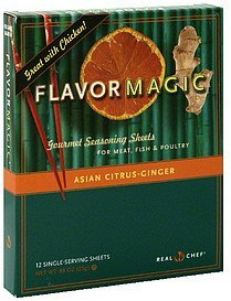 gourmet seasoning sheets asian citrus-ginger Flavor Magic Nutrition info