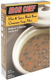 gourmet soup mix hot & spicy black bean Iron Chef Nutrition info