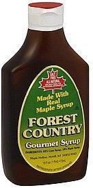 gourmet syrup Forest Country Nutrition info