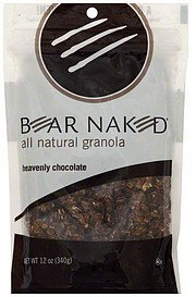 granola all natural, heavenly chocolate Bear Naked Nutrition info