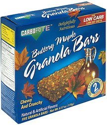 granola bars buttery maple CarboRite Nutrition info