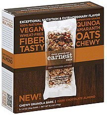 granola bars chewy, dark chocolate almond Earnest Eats Nutrition info