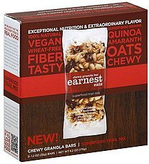 granola bars chewy, superfood trail mix Earnest Eats Nutrition info