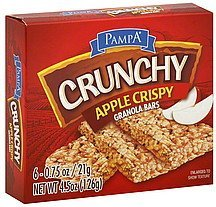 granola bars crunchy, apple crispy Pampa Nutrition info