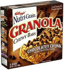 granola chewy bars chocolatey chunk Nutri-Grain Nutrition info