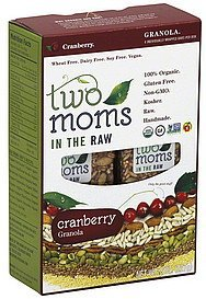 granola cranberry Two Moms in the Raw Nutrition info
