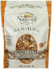 granola honey nuts & cinnamon New England Naturals Nutrition info
