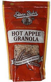 granola hot apple Stone-Buhr Nutrition info