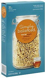 granola low fat, maple Simply Balanced Nutrition info