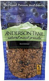 granola natural moist, blueberry Anderson Trail Nutrition info