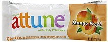 granola probiotic wellness bar mango peach Attune Nutrition info