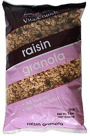 granola raisin Vita-Crunch Nutrition info