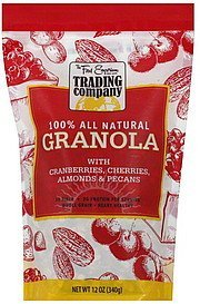 granola with cranberries, cherries, almonds & pecans The Food Emporium Trading Company Nutrition info