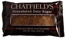 granulated date sugar Chatfields Nutrition info