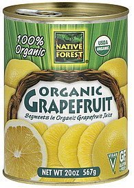 grapefruit organic Native Forest Nutrition info
