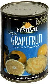 grapefruit white Festival Nutrition info