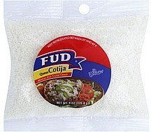 grated cheese mexican style Fud Nutrition info