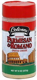 grated cheese parmesan, romano Colonna Nutrition info