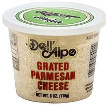 grated cheese parmesan Dell'Alpe Nutrition info