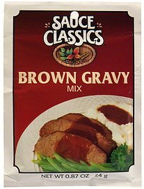 gravy mix brown Sauce Classics Nutrition info