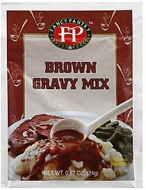 gravy mix brown Fancy Pantry Nutrition info
