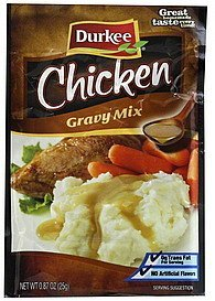 gravy mix chicken Durkee Nutrition info