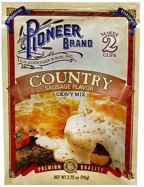 gravy mix country sausage flavor Pioneer Nutrition info