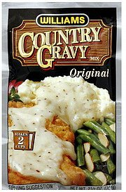 gravy mix country Williams Nutrition info