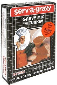 gravy mix for turkey Serv-A-Gravy Nutrition info