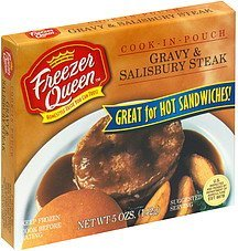 gravy & salisbury steak Freezer Queen Nutrition info