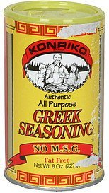greek seasoning authentic, all purpose Konriko Nutrition info