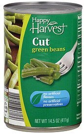 green beans cut Happy Harvest Nutrition info