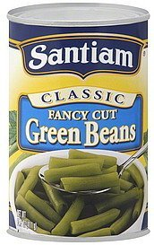 green beans fancy cut Santiam Nutrition info