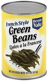 green beans french style Better valu Nutrition info