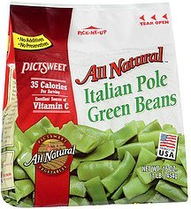 green beans italian pole all natural Pictsweet Nutrition info