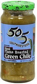 green chile medium, diced, flame roasted 505 Southwestern Nutrition info