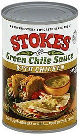 green chile sauce with chicken, mild Stokes Nutrition info