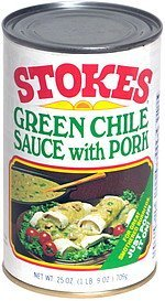 green chile sauce with pork Stokes Nutrition info