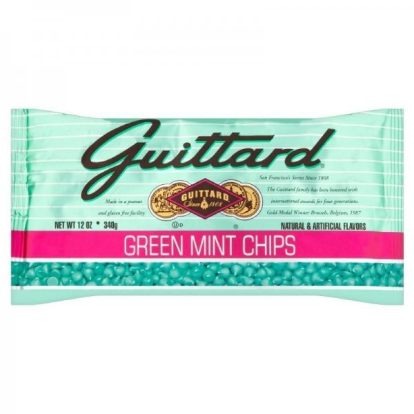 green mint chips Guittard Nutrition info