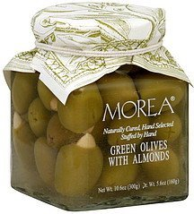 green olives with almonds Morea Nutrition info